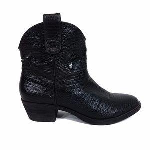 Sam Edelman Stevie Boot Gunmetal Western Black 7.5